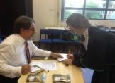 Presidente Fernado Prati entrega registros para formandos da Unisinos